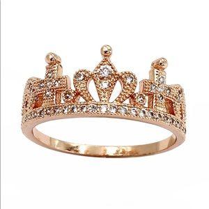 Fashion crown micro inlaid ring